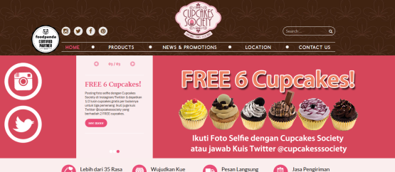 Cupcakes Society Website 1