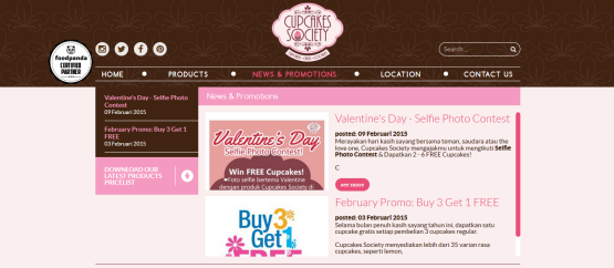 Cupcakes Society Website 3